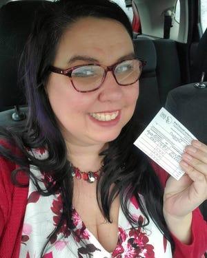 "Times reporter Daveen Rae Kurutz took a ""vaccine selfie"" after receiving her first dose of the Moderna vaccine this week."