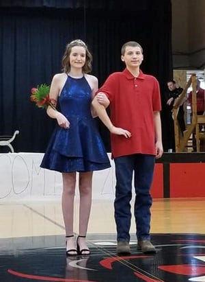 PHHoCo_2020 prince and princess: Retiring Homecoming Princess Kate Crews and retiring Prince Clayton Kendrick. (photo by Amy Odneal)