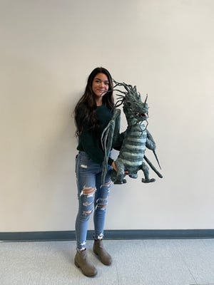 Tori Mas received an honorable mention at the Scholastic Art Show held in Springfield recently.  There were over 600 entries this year! Congratulations, Tori!