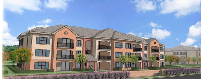 This rendering shows what developer Steve Smith of Provident Housing Solutions has in mind for his planned Brentwood Village Apartments affordable housing project in Daytona Beach.