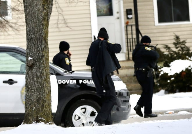 Dover police respond to Whittier Falls Friday, Jan. 29, 2021 for a report of an armed person that turned out to be false.