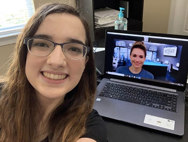 "Kaitlyn Ludlum, founder of the AstroBot STEM Nonprofit Corp. that introduces girls to STEM careers, talks with Tracy Fanara, an engineer, scientist, graduate school professor and storm chaser. Fanara will be among the speakers at the nonprofit's upcoming ""Introduce a Girl to Engineering Day."""