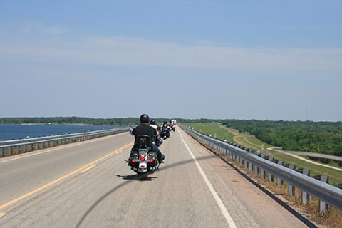 Bikers ride through the Texoma area. A motorcycle rally is planned this weekend for group rides across Texoma area bridges as part of the Texas Harley Owners Group Rally in 2018.