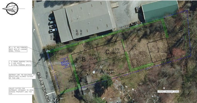 A conceptual site plan shows where a light manufacturing building that would house Frau Fowler is proposed to be built.