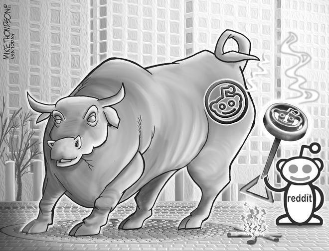 A Mike Thompson cartoon on Wall Street uproar