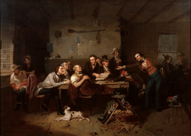 Justice's Court in the Back Woods, 1850, Tompkins Harrison Matteson, oil on canvas.