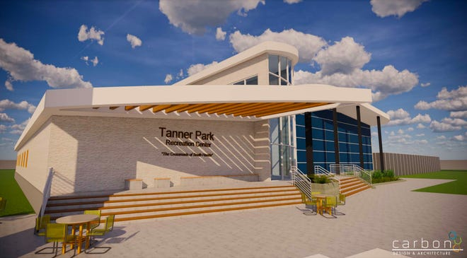 An artist's rendering of the proposed new Tanner Park Recreation Center in South Bay.