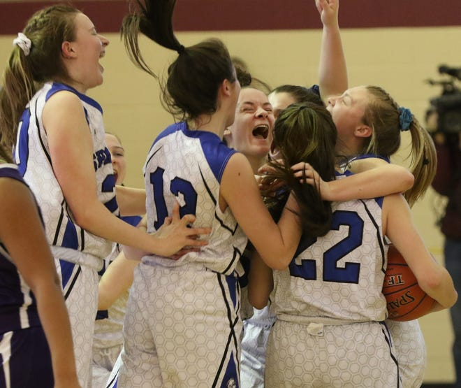 Last March the Scituate girls celebrated after winning a Division II title. Thursday, the Spartans - who moved up to Division I - celebrated their biggest regular-season win in program history after beating La Salle.