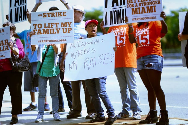 Florida voters approved a minimum wage hike in November.