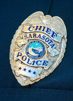 Sarasota Police Department Chief badge.