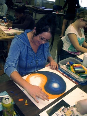 (Images of Art Therapy Programming and Art under Dr. Madeline Rugh's teaching.)