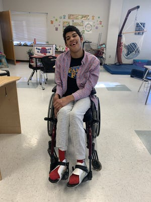 A GoFundMe page have been started to help JadenCorbin, 18, obtain an adapated vehicle in order to receive an electric wheelchair.