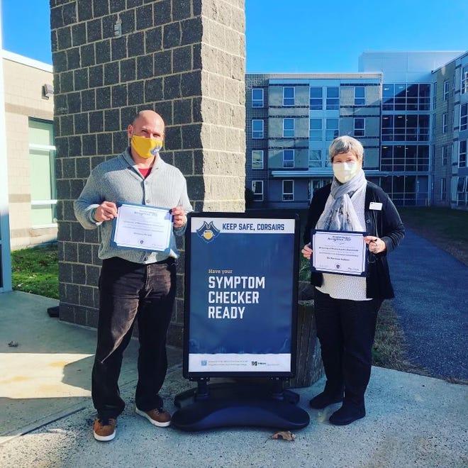 Marianne Sullivan and Greg Homol earned the prestigious honor for their efforts operating the UMass Dartmouth's testing center