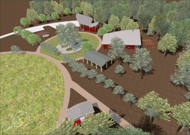 The reimagining of the James Farm Ecological Preserve campus area will be as unique and appealing as the natural wonder of the preserve itself. Structural designs hold true to the agricultural heritage of the property and the region.