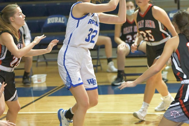 Washburn Rural's Brooklyn DeLeye scored 26 points to lead the Junior Blues to a 75-37 win over Great Bend.