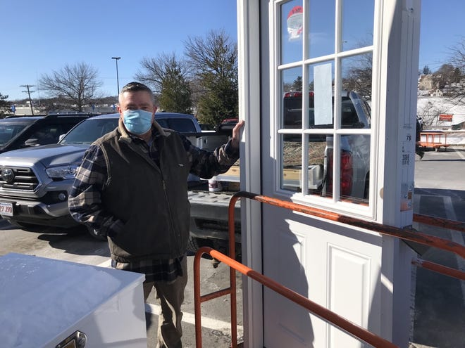 Rich Valcourt had plans to install an exterior door Friday, but after shopping for one at the Home Depot on Gold Star Boulevard in Worcester, he reasoned it would be best to go home and sit by a fire due to the extreme cold outside.