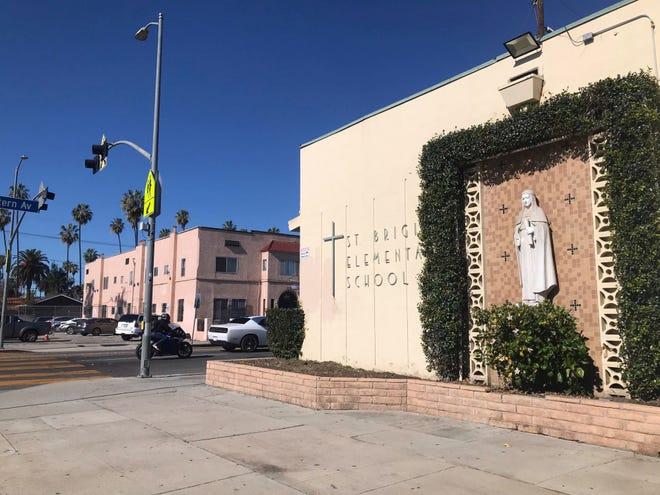 St. Brigid Catholic Church in South Central Los Angeles.