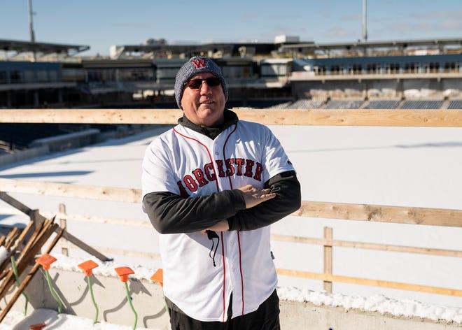 WooSox hitting coach Rich Gedman outside Polar Park on Friday, January 29, 2021.