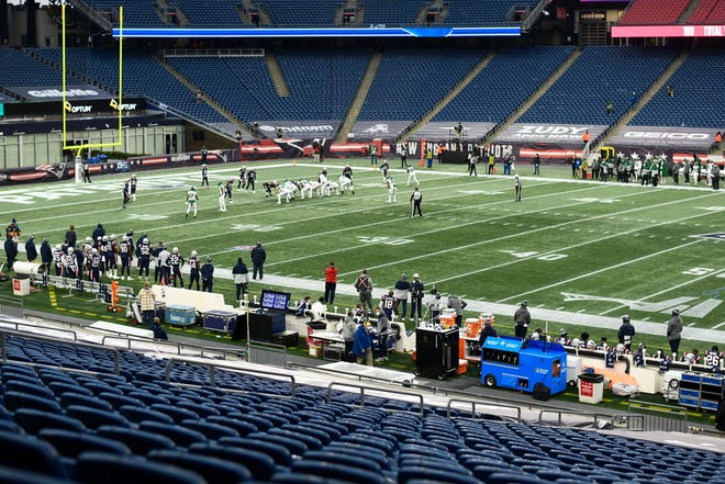 The Patriots played before empty stands all season at Gillette Stadium.