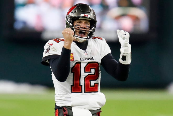 Tampa Bay Bucs quarterback Tom Brady will be striking a similar victorious pose Sunday after the Bucs defeat Kansas City in the Super Bowl. How do we know? It's called fate.