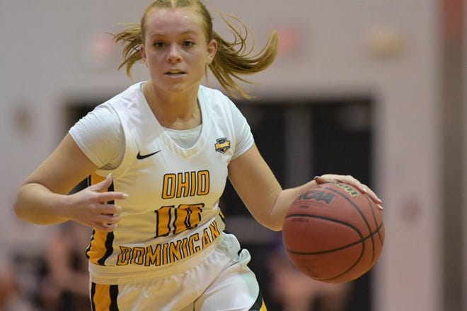 Hiland graduate Kennedy Schlabach helped lead Ohio Dominican to a season sweep of Findlay Thursday night.