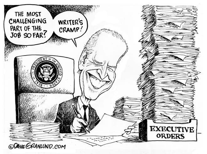 Biden suffering from writer's cramp
