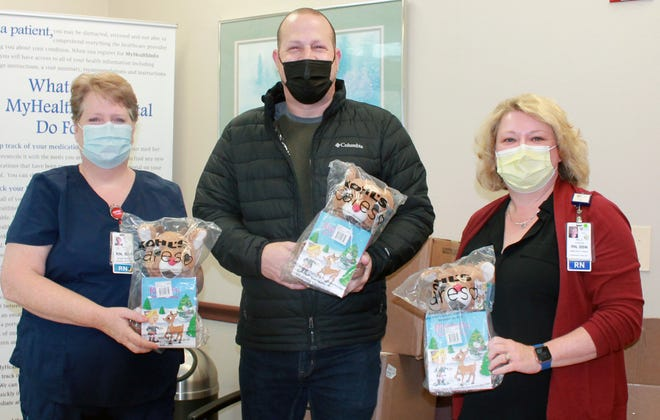 The donation brings comfort to children attending the emergency room at Jones Memorial Hospital