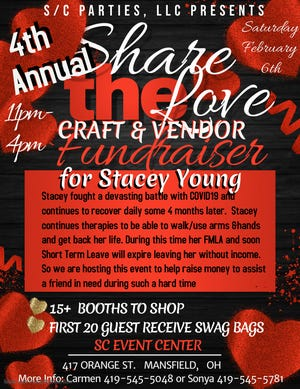 The Share the Love fundraiser will take place 11 a.m. to 4 p.m. Feb. 6.