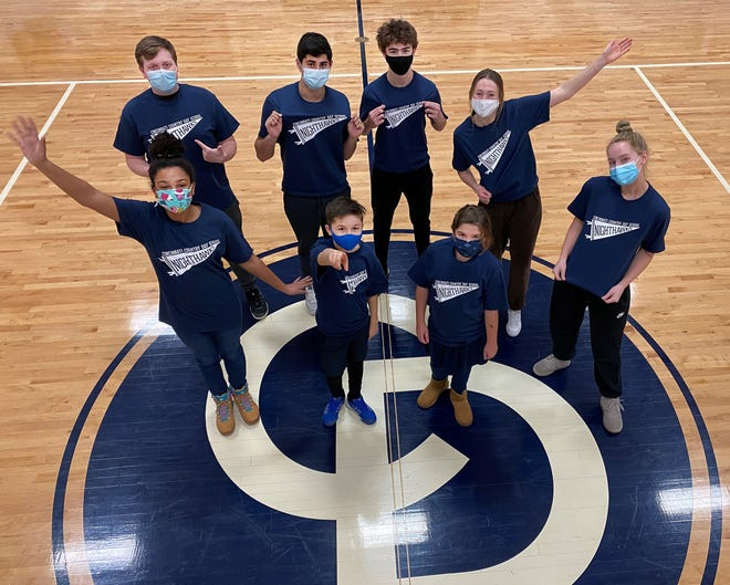 Student members of the CCDS Mascot Committee played an integral role in helping Country Day choose a new mascot. Country Day will now be known as the Nighthawks. Pictured are student members of the mascot committee.