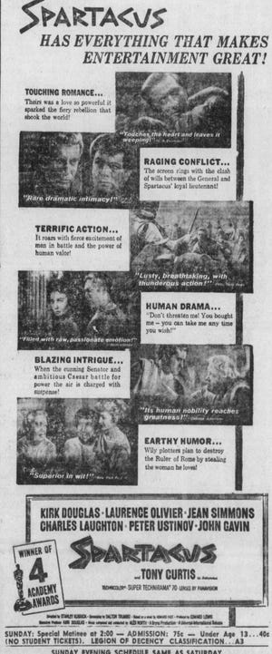 Lyric Theater ad from the January 27, 1962 Lancaster Eagle-Gazette.