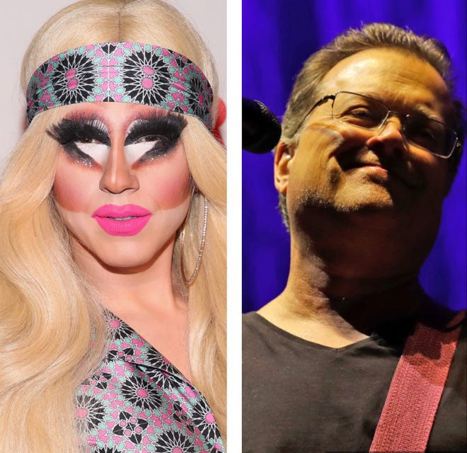 "Trixie Mattel (left) has recorded a cover of ""Blister In The Sun"" from the band Violent Femmes (right). Both Mattel and the Femmes hail from Milwaukee."