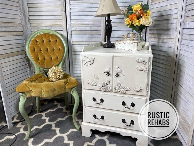 Menomonee Falls resident Jennifer Dunne started a business painting and beautifying vintage furniture.  This dresser was repainted.
