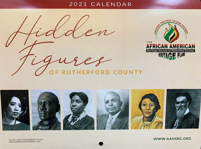 'Hidden Figures of Rutherford County' is a 2021 calendar published by the African American Heritage Society of Rutherford County.