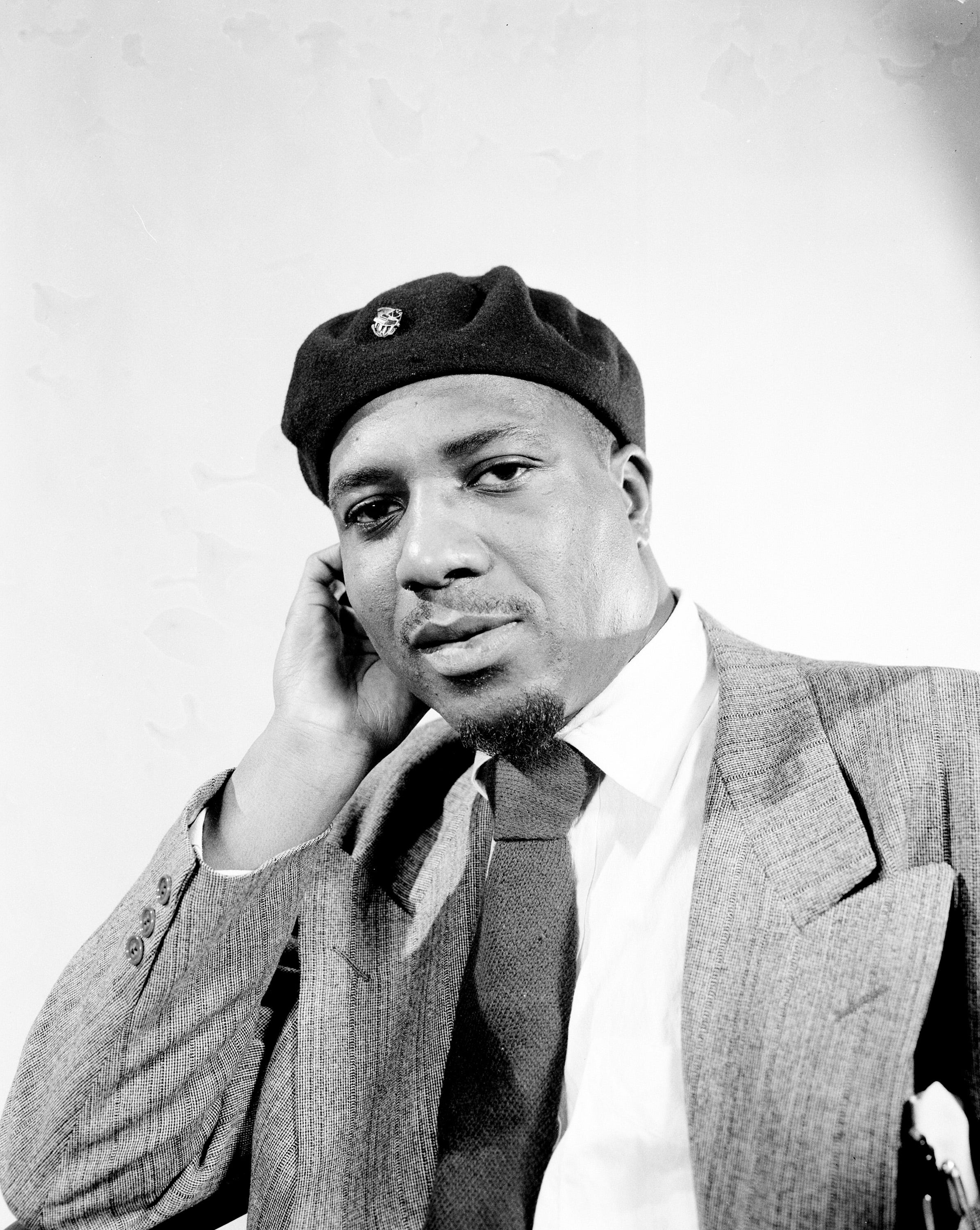 Jazz pianist and composer Thelonious Monk poses in January 1949.