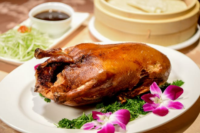 Peking duck for Chinese New Year at Hunan Taste in Denville  on Friday January 29, 2021.