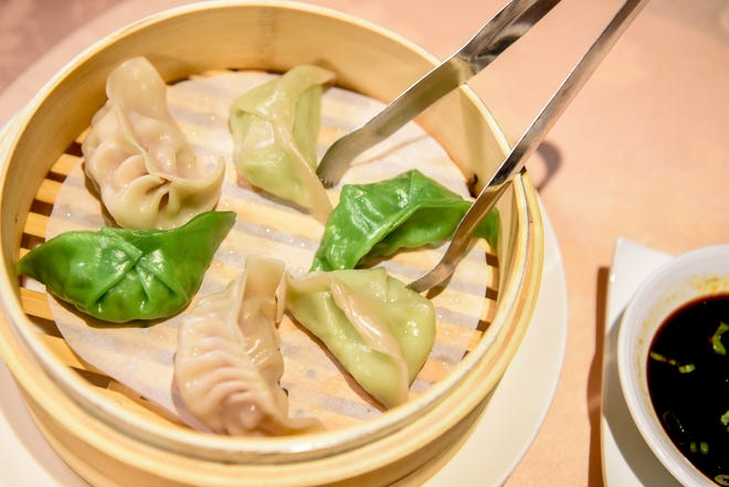 Assorted steamed dumplings for Chinese New Year at Hunan Taste in Denville  on Friday January 29, 2021.