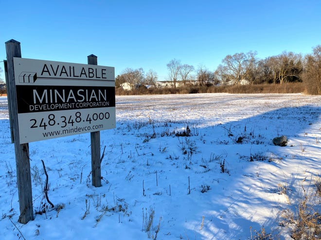 The site of a planned ambulatory surgical center on Karim Boulevard off Grand River Avenue  in Novi.
