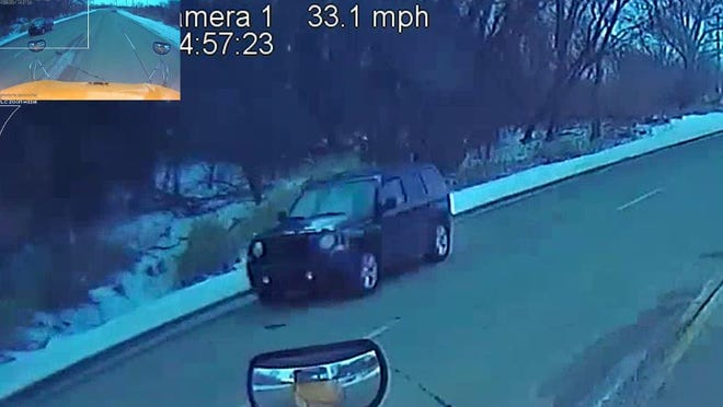 Oshkosh police are looking for the Jeep SUV pictured in connection with a hit and run crash Friday afternoon on County A and East Snell Road.