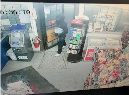 Oshkosh police are searching for a man after an armed robbery Friday morning on Bowen Street.