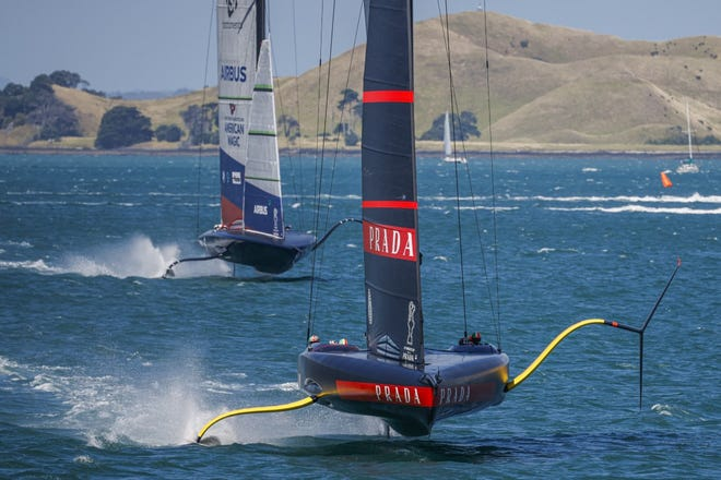 Luna Rossa led American Magic's 'Patriot' from start to finish in both of the first two Prada Cup Challenger Series semi-final races.