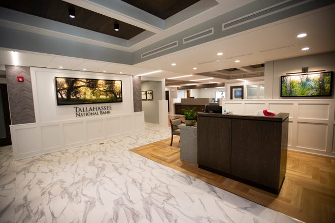 The customer service area in Tallahassee National Bank.