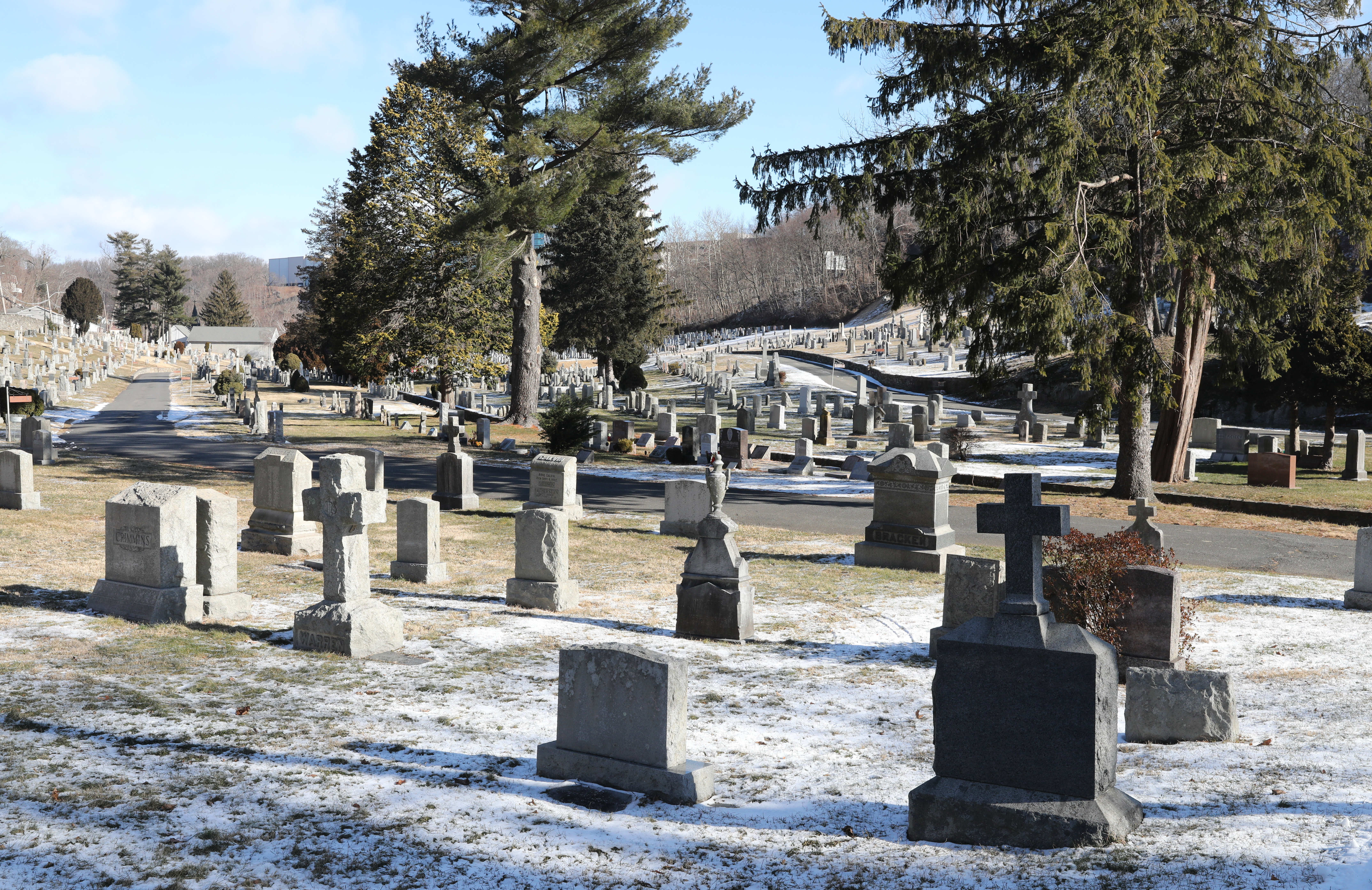 St. Mary's Cemetery on Sprain Road in the Runyon Heights section of Yonkers, Jan. 29, 2021.