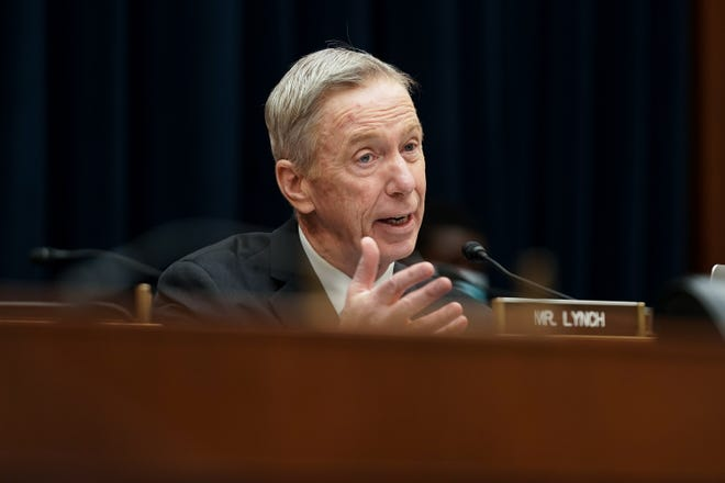 U.S. Rep. Stephen Lynch (D-MA) speaks during a House Financial Services Committee oversight hearing In December 2020.