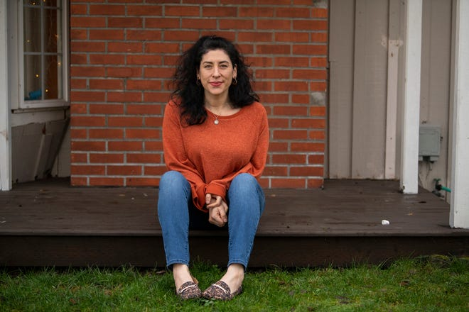 Vanessa Carman at her home in Renton, Washington. Carman is one of a number of women who are speaking up about abuses facing female apprentices in the construction industry and pushing for change.