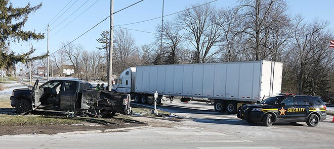 A Sullivan man, Thomas Radcliffe, was taken to a hospital via helicopter on Friday following a crash at U.S. Route 224 and state Route 58.