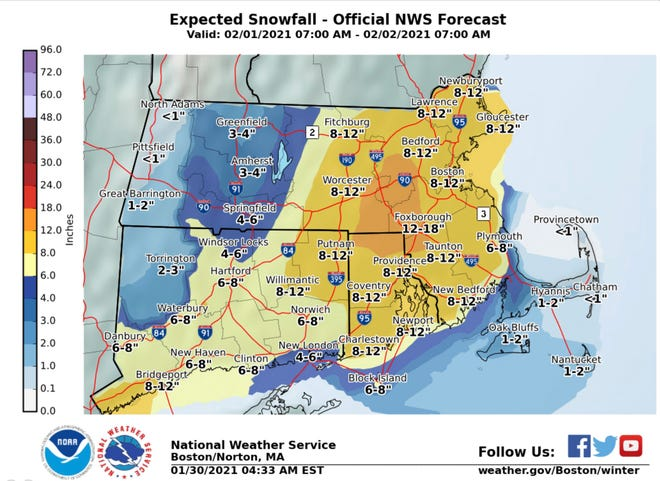 1-2 inches of snow expected for Cape Cod
