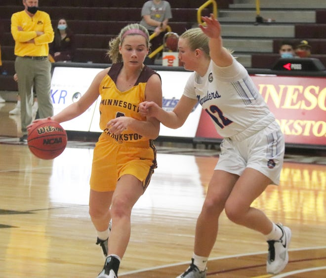Emma Carpenter had 13 points and three assists to help Minnesota Crookston beat the University of Mary, 73-65, on Saturday afternoon.