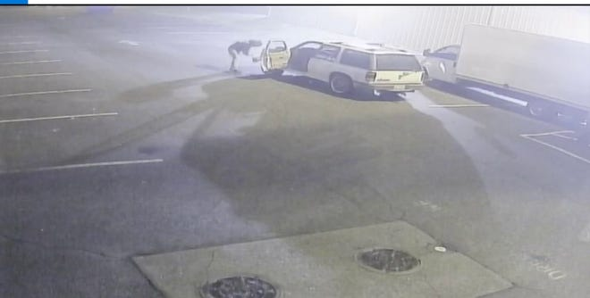 Police say three suspects cut a converter from a box truck at around 10:30 p.m. on Jan. 26 in the parking lot of Sir Pizza, located at 520 National Highway.  Anyone who recognizes the white SUV with the door open or anyone who has information about this crime is asked to call Thomasville Crime Stoppers at 336-476-8477. Callers may remain anonymous and might be eligible for a cash reward.