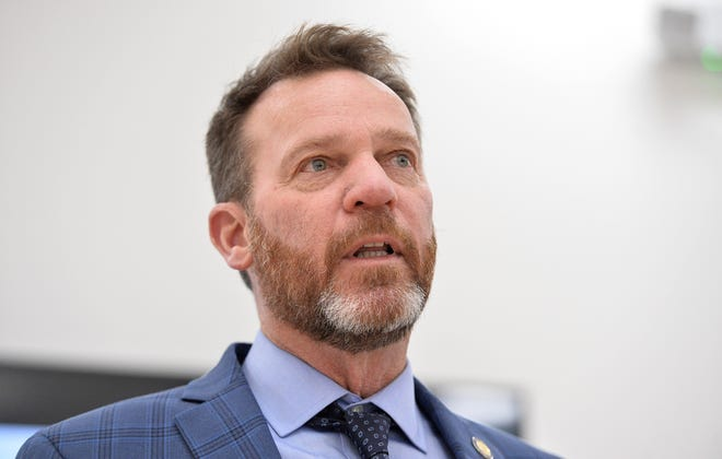 State Sen. Dan Laughlin, of Millcreek, R-49th Dist., is shown, Jan. 29, 2021, during a news conference at LECOM Center for Health & Aging, 3910 Schaper Ave. in Erie. Laughlin on Wednesday plans to unveil a new bill that would legalize marijuana possession and use for adults 21 and older, becoming the first state Republican lawmaker to push such legislation.