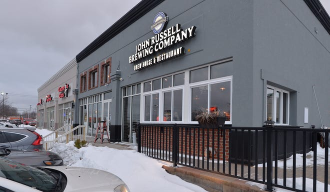 John Russell Brewing Company, shown on Friday in Summit Township, has opened for dine-in service.
